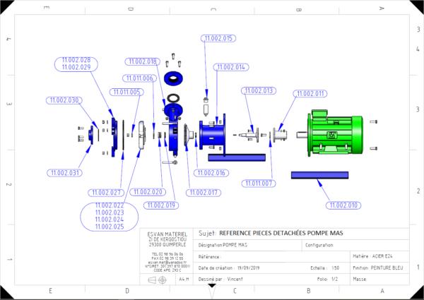 Pièces détachées pompe centrifuge